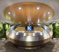 Circular Reception Desk by Klick Health Toronto 2012 Prototype Design Lab