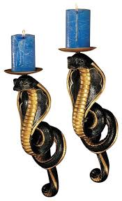 Joselyn Wall Sconce Renenutet Egyptian Cobra Goddess Wall Sconces Eclectic Wall