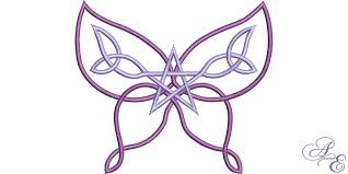 celtic knot butterfly of embroidery