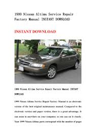 1999 nissan altima service repair factory manual instant download