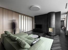 minimalist urban dwelling in vilnius in dark color selection