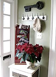 holiday decorating idea displaying christmas cards aimee