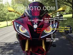 yamaha r6 halo lights 2006 2016 yamaha r6 hid bixenon projector kit with angel eyes halo