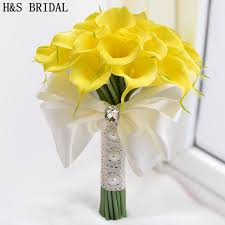 yellow calla beautiful white yellow calla wedding bouquet brides