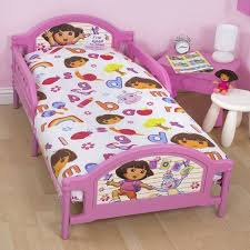 Cot Duvet Set Dora The Explorer Junior Cot Bed Duvet Cover Bedding Set 4 In 1