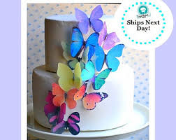 Edible Butterflies & Decorations for Cakes & by SugarRobot on Etsy