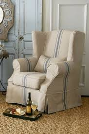 slipcovered chair decorative slipcovers for wingback recliner chairs 9 wing chair