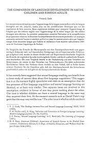 the comparison of language development in native children and