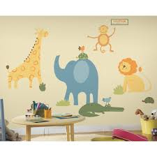 safari animals giant wall decals baby nursery stickers elephant safari animals giant wall decals baby nursery stickers elephant lion zoo decor ebay