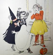 vintage halloween illustration it u0027s halloween jack prelutsky illustrated by marylin hafner