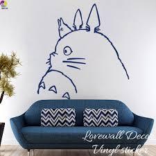 online buy wholesale totoro wall sticker from china totoro wall cartoon my neighbor totoro wall sticker kids room spirited away chihiro haku cat animal decal