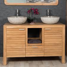 meuble sous vasque sur mesure meuble sous vasque salle de bain en teck meubles salle de bain en