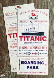 Boarding Pass Wedding Invitation Card Titanic Themed Wedding Invitations Wedfest