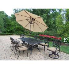 Patio Furniture Review 8 9 Person Umbrella Patio Dining Furniture Patio Furniture