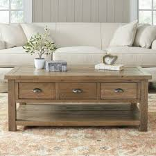Wood Coffee Table Farmhouse Rustic Coffee Tables Birch