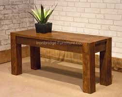 rosewood tall end table coffee brown 100cm rustic farm bench only 2 left