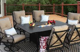 Newport Patio Furniture by Newport Cast Aluminum Outdoor Patio 7pc Dining Set 44x84 Dining