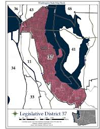 Map Of Greater Seattle Area by Washington U0027s 37th Legislative District Wikipedia