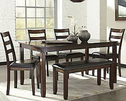 dining room tables with benches and chairs kitchen dining room furniture ashley furniture homestore