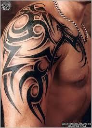 tribal tattoos with shading photo shaded tribal shoulder tat