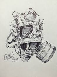 daily sketch usmc boot gas mask u2013 the blog freehandprofit com