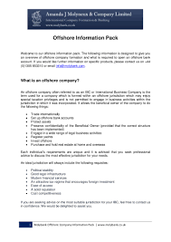 offshore information pack