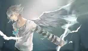 black angel wings background