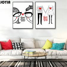aliexpress com buy cartoon boy couple art canvas poster
