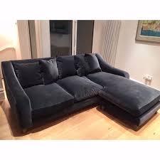 chaise lounge corner sofa loaf oscar grey armour plush velvet chaise corner sofa in