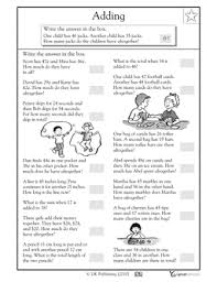 2nd grade 3rd grade math worksheets addition word problems 1