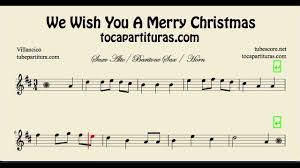 we wish you a merry sheet for alto saxophone