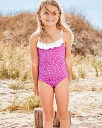 ruffle girl ruffle trimmed one swimsuit garnet hill