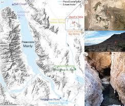 Map Of Death Valley Diabolical Survival In Death Valley Recent Pupfish Colonization