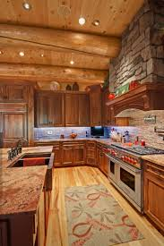 small log home interiors kitchen cabin kitchen ideas on interior decorating with