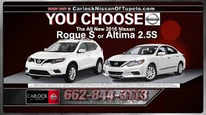 2016 nissan altima jackson ms carlock nissan of tupelo february 2016 tv commerical youtube