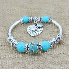 sterling silver bracelet beads charms images Sterling silver heart charm bracelet with glass beads the jpg