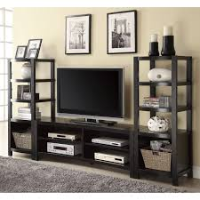 Sauder 3 Shelf Bookcase by Sauder Beginnings Entertainment Wall System Cinnamon Cherry