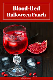 make this blood red halloween punch and pretend you u0027re a vampire