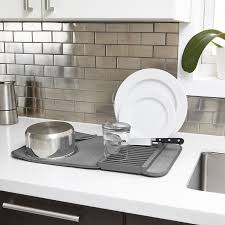 kitchen drying mat umbra udry mini dish rack and drying mat reviews wayfair