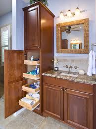 Bathroom Cabinet With Hamper Amazing Chic Tall Bathroom Storage Cabinet Plain Ideas Tall
