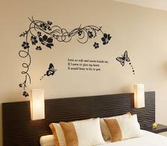 women fashion diy wall sticker butterfly flowers black flower vine women fashion diy wall sticker butterfly flowers black flower vine wall sticker removable wall vinyl home