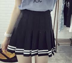 pleated skirt striped pleated skirt hhotaru