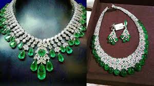 diamond emerald necklace images Gorgeous emerald diamond necklace design jpg