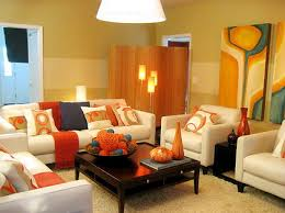 Orange Living Room Decor Fancy Orange Living Room Decor All Dining Room
