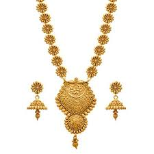 gold long necklace set images Buy jfl jewellery for less copper one gram gold plated necklace jpg