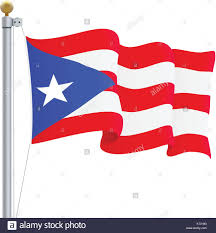 Puertorican Flag Waving Puerto Rico Flag Isolated On A White Background Vector