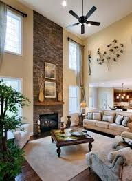 Two Story Great Room Decorating Ideas Fireplace Wall Talk Wall - Two story family room decorating ideas