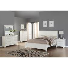 Super Amart King Bed by Laveno 012 White Wood Bedroom Furniture Set Includes King Bed