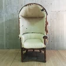 Dome Chairs Antique 19th Century Chippendale Upholstered Porter Chair