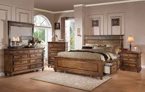 arielle oak 4pc king storage bedroom set 24457ek